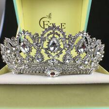 Wedding Bridal Crystal Queen Silver Crown Tiara Headbands Hair Accessories Prom