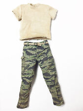 HOT TOYS PREDATORS AVP NOLAND CAMO PANTS AND T-SHIRT 1:6 SCALE FIGURE ~NEW~