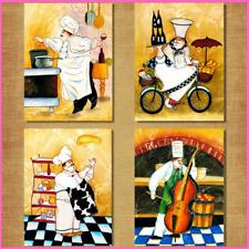 Wall Art Cartoon Restaurant Painting Bakery Cook Poster Kitchen Print Decoration