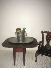 Antique Vintage German Dollhouse Gerlach? Wine Bucket serving tray 2 bottles