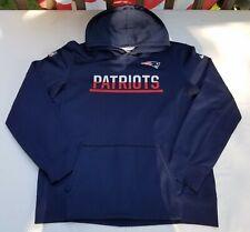 Boys Nike Therma Fit New England Patriots Hoodie Sweatshirt Sz XL Blue NFL