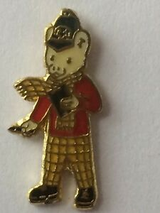 RUPERT BEAR Collectable Pin Badges * Rupert Police with black notebook * vgc