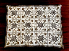 VINTAGE LEFKARA HAND EMBROIDERED Natural LINEN TABLE CENTRE CLOTH Place Mat