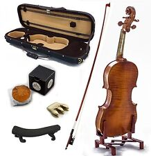 4/4 Antique Style Professional Handmade VN401 Violin Kit w Case Bow Rosin Mute