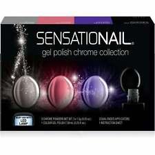 SensatioNail SN Chrome Powder & Gel Polish Topcoat Trio Set (72112)