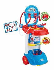DOCTORS & NURSES HOSPITAL MEDICAL TROLLEY PLAY SET TOY LIGHTS & SOUNDS 661-170