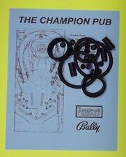 1998 Bally / Midway The Champion Pub pinball rubber ring kit