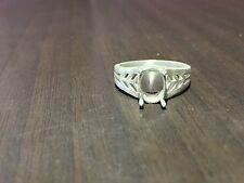 925 Sterling Silver Semi Mount Ring Setting Stone 7 x 9 mm Oval Ring Mounting