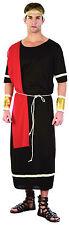 Mens Black Toga Greek God Warrior Fancy Dress Costume Historic Actor Outfit New