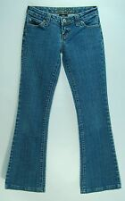 Hemmed Stonewashed LOW Flare W Stitched Pockets WET SEAL Stretch Jeans! 00