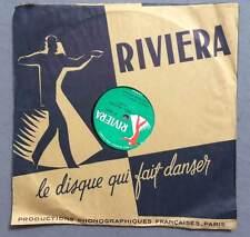 ►VINYLE 78 T. - RIVIERA - 1673 - EDDIE  BARCLAY - MES MAINS GILBERT BECAUD