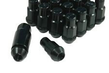 Performance Lightweight Racing Lug Nuts Set Black 12x1.5 Thread Size 50mm Long