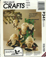 McCall's sewing pattern EGG DOLLS Jolly Old Santa sew 2 sizes stuffed TOY UNCUT