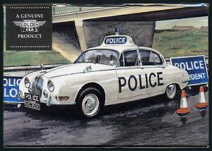 POLICE CARS of the 1960'S Postcard Set - Mini Cooper S, Jaguar, Austin & Morris