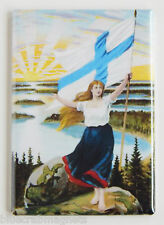 Finnish Woman FRIDGE MAGNET (2 x 3 inches) travel poster finland flag
