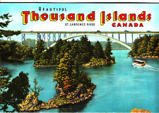 Beautiful Thousand Islands St Lawrence River Canada Valentine Co Vintage Booklet