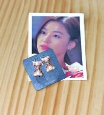 Korean Drama You who came from the stars Jeon Ji Hyun Style Pearl Ribbon Earring