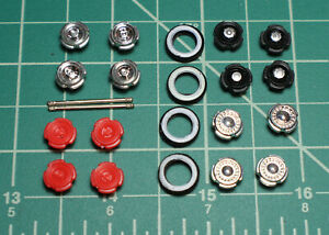 M2 Machines 1/64 Auto-Thentics Wheels Rubber Tires Custom Parts Project Rims