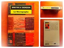 Le Nécrographe -Bretin et Bonzon -Le Livre de Poche Policier N° 17225
