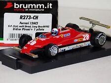 FERRARI 126C2 #28 USA GP 1982 LONG BEACH PIRONI BRUMM R273CH 1:43