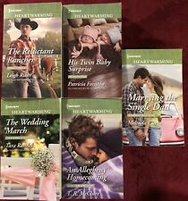Lot of 5 Large Print Harlequin Heartwarming Romance Books - Free Shipping