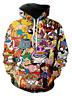 Cartoon Totally 90's 3D print Mens Hoodie Sweater Sweatshirt Jacket Pullover Top