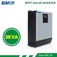 3KVA Solar Inverter 2400W 24V 220V  Pure Sine Wave Built-in MPPT battery charger