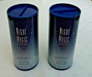 2 New Avon Night Magic Evening Musk Silk Pleasures Perfumed Body Talc Powder HTF