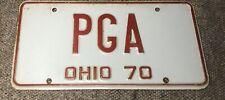 RARE 1 OF A KIND 1970 OHIO LICENSE PLATE VANITY PGA GOLF ENTHUSIAST AUTOMOBILE