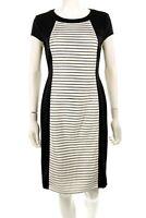 Maggy London 122909 Womens Black & White Short Sleeve Sheath Dress Size 8