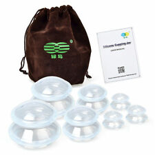 NEW Silicone Cuping Set of 7 Anti-Cellulite Vacuum Massager Chinese Medical Cups