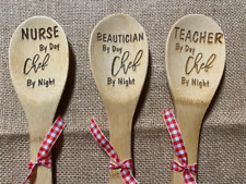 Personalized Job Title Engraved Wood Spoons for Gifts for your Favorite Person!