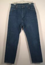 Wrangler Size 5 X 32 Relaxed Jeans Slightly Tapered 100% Cotton Womens