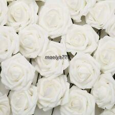 ROSES en mousse 7 cm blanche,fleur artificielle.décoration maison, mariage.10pcs