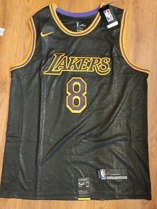 NEW Kobe Bryant #8 MEN'S Black Mamba Los Angeles Lakers Stitched Jersey size XXL