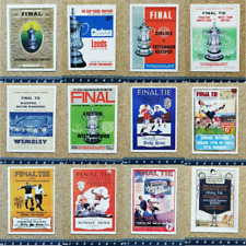 FA Cup Final Programme Cover Reproduction Single Football Cards - Various Games