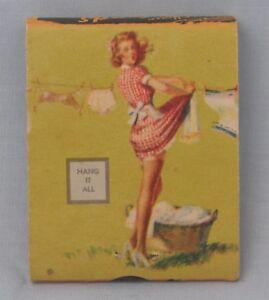 Pin-up Girls 1940's Matchbooks ~ Set of 7 Elvgren ~ Bayuk's Tavern ~ Ottawa IL