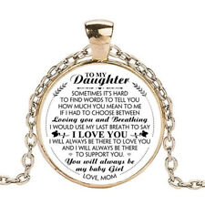 To My Daughter - Mom Necklace, Gift for Daughter from Mommy Mom, Birthday Gift