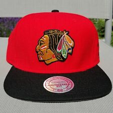 Casquette Mitchell & Ness Chicago Blackhawks Snapback Cap Bride NEUF NHL