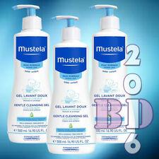 3 x Gentle Cleansing Gel Mustela Baby Skin Hair Body Cleanser Hypoallerg. 500ml