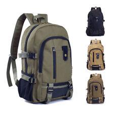 Vintage Mens Canvas Backpack Satchel Laptop Rucksack Travel School Camping Bag