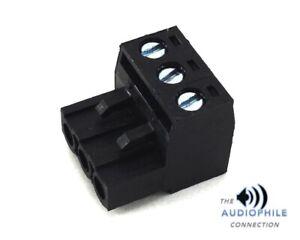 BLACK ROCKFORD FOSGATE PUNCH 30HD 3 PIN TERMINAL POWER WIRE PLUG ~ BRAND NEW!