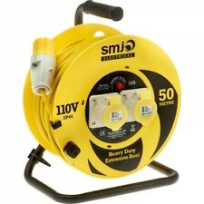 SMJ Electrical Heavy Duty 50mtr Site Cable Extension Reel 110v/16a