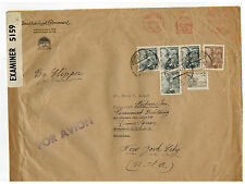 1941 Barcelona Spain Oversize Cover to USA PAramount Pictures Dual Censored 2