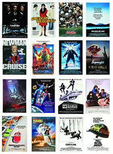 80s Movie Posters Film Print Beverley Hills Cop, Gremlins, Stand By Me, Dune