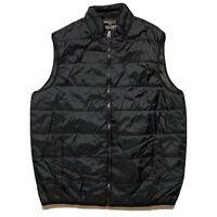 SWISS TECH Nylon Mens Black Puffer Vest Light Weight Sleeveless Zip Up Size XL