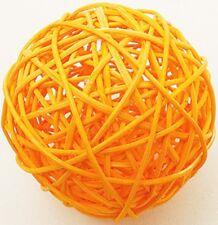 6 Boule en rotin diam.3.5 cm orange. Décoration de mariage
