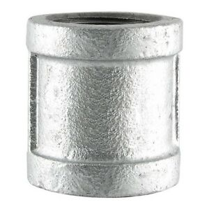 """1/2"""" GALVANIZED MALLEABLE IRON STRAIGHT COUPLING fitting pipe npt"""