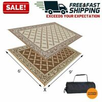 Reversible Outdoor Mat Camping RV Patio Deck Picnic Carpet Indoor Rug Floor Pad