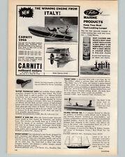 1966 PAPER AD Carniti Outboard Motor 35 45 55 HP Glastron Motor Boat
